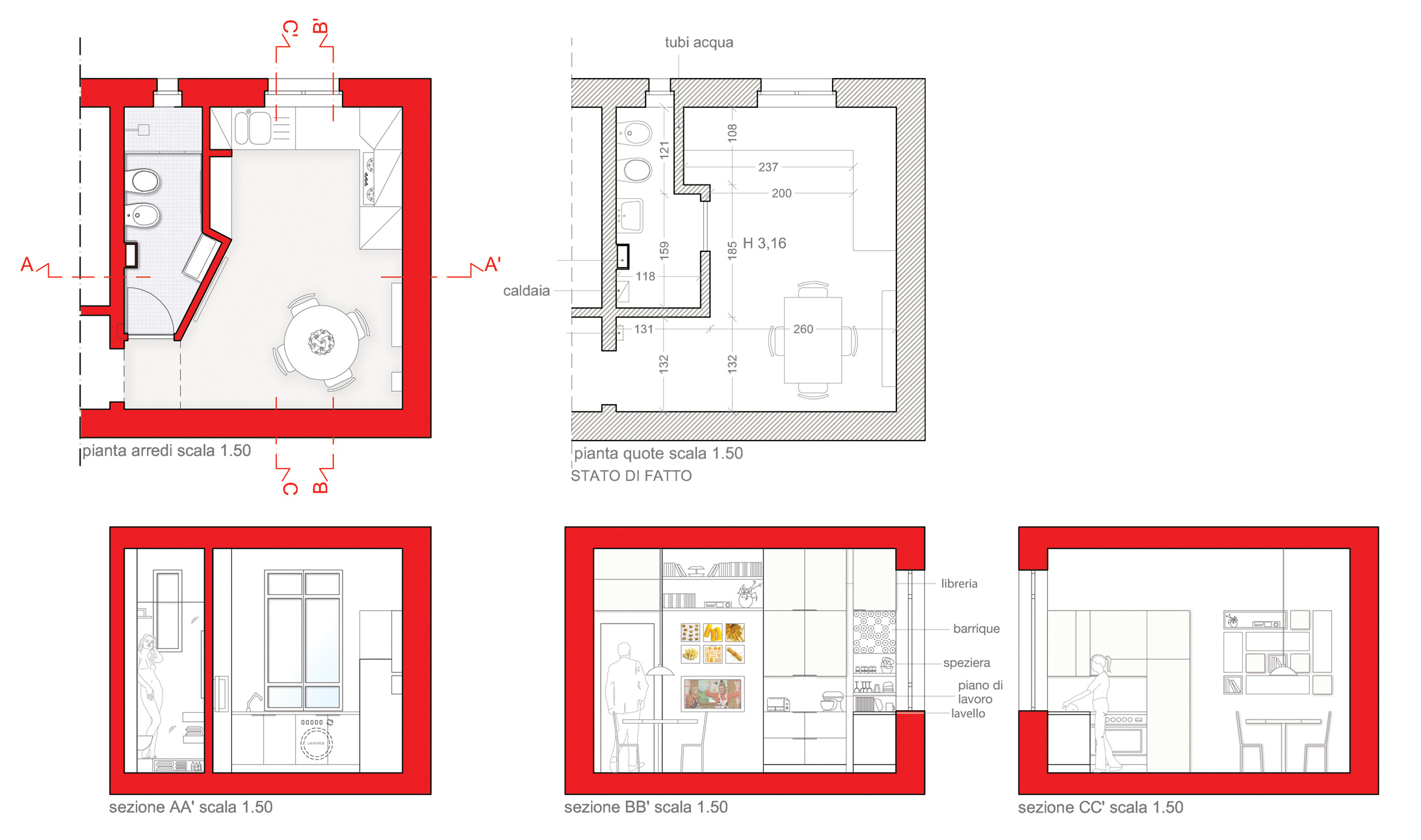 Progetto Bagno Piccolo Con Doccia : Il bagno di servizio pi pratico e confortevole. bagni ad angolo